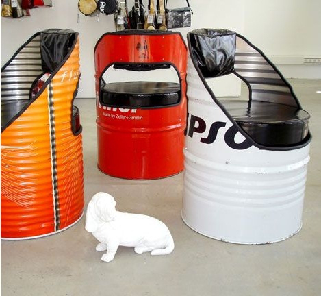 Ideias para reutilizar barris de metal artesanato for Muebles de oficina jovalu