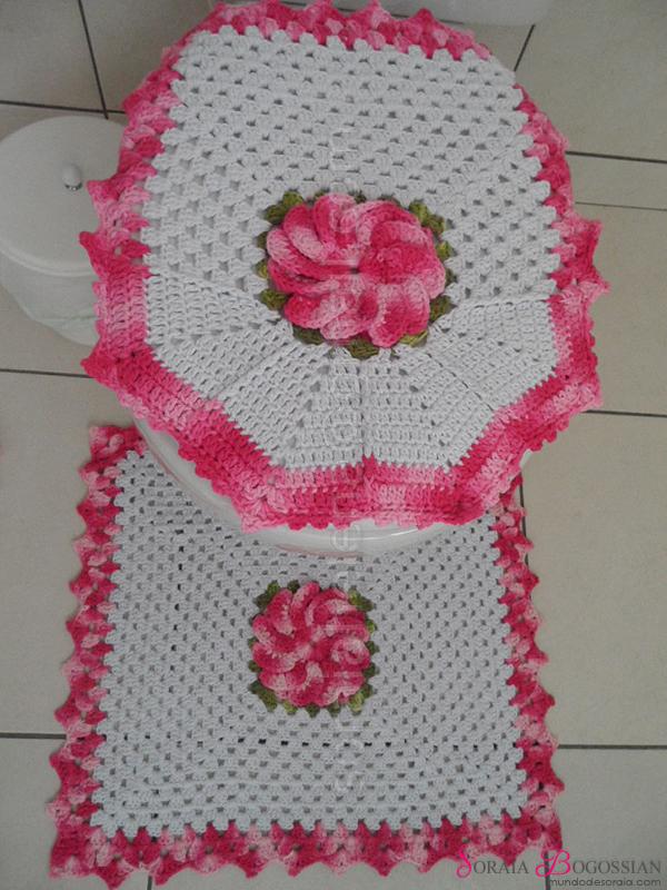 Kit Para Banheiro Artesanato ~ Aprenda a Crochetar um Jogo de Banheiro Artesanato Cultura Mix